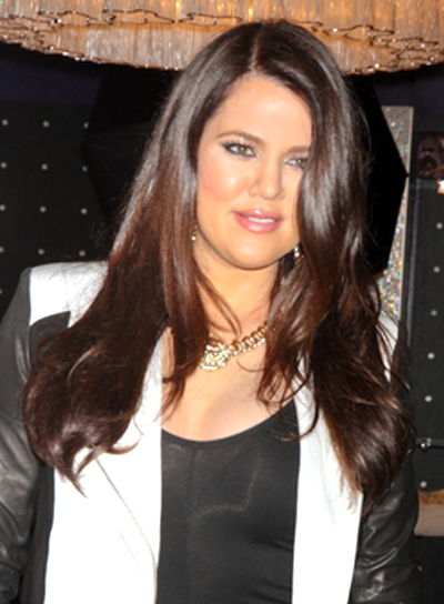 Khloe Kardashian's Long, Brunette, Romantic, Chic Hairstyle