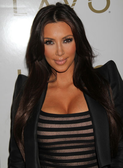 Kim Kardashian Sophisticated, Straight Hairstyle