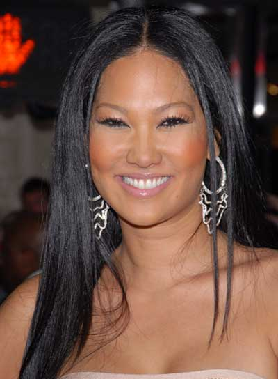 Kimora Lee Simmons Long, Straight, Sophisticated, Black Hairstyle