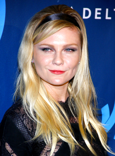 Kirsten Dunst's Long, Wavy, Blonde Tousled Hairstyle
