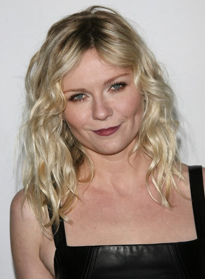 Kirsten Dunst Medium, Wavy, Sexy, Blonde Hairstyle