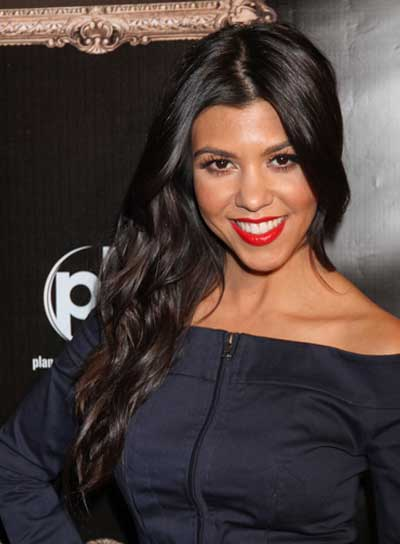 Kourtney Kardashian Wavy, Chic, Black Hairstyle