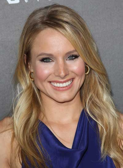 Kristen Bell Long, Wavy, Blonde Hairstyle
