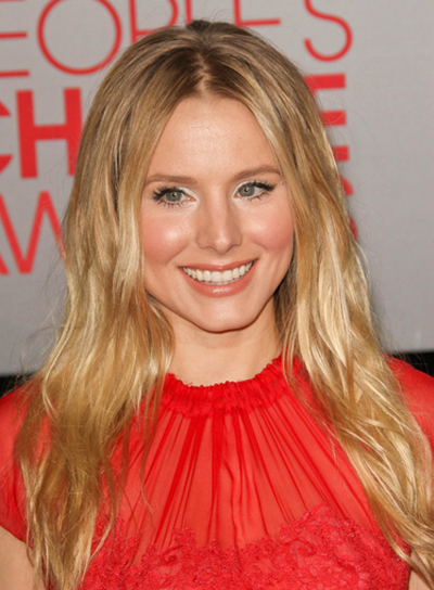 Kristen Bell Long, Wavy, Chic, Blonde Hairstyle