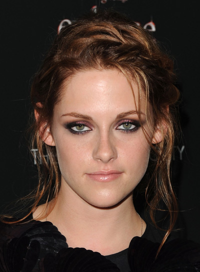Kristen Stewart Red Updo with Braids and Twists