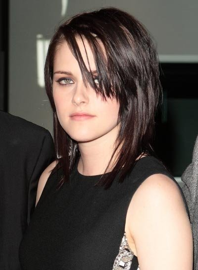 Kristen Stewart Straight, Layered Hairstyle