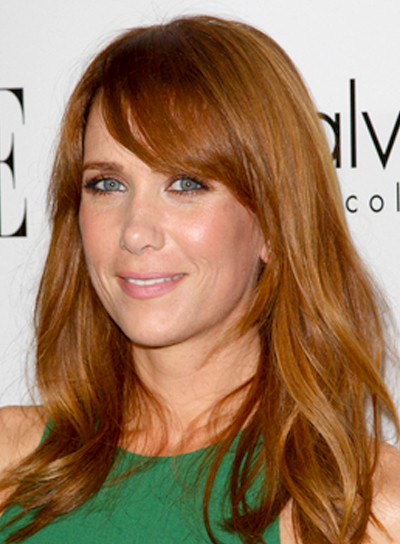 Kristen Wiig's Long, Red, Wavy, Tousled, Hairstyle
