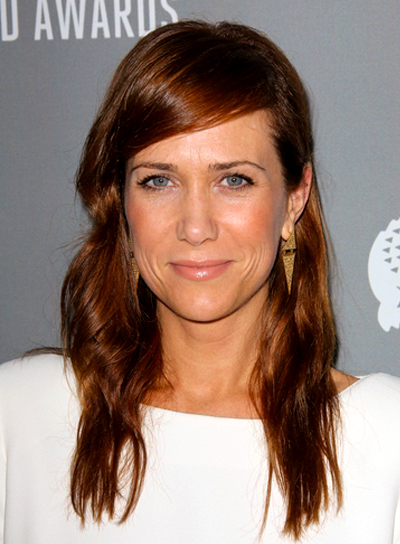 Kristen Wiig's Long, Wavy, Red, Sophisticated Hairstyle