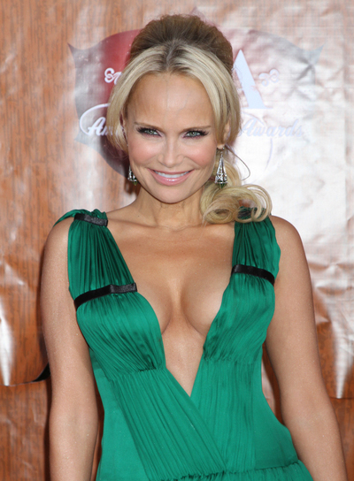 Kristin Chenoweth Long, Blonde Ponytail with Bangs