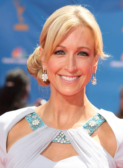 Lara Spencer Romantic, Blonde Updo