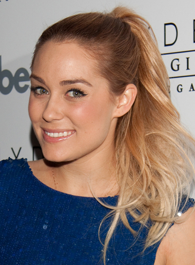 Lauren Conrad Long, Tousled, Blonde Ponytail
