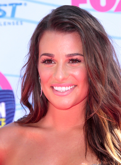 Lea Michele's Long, Sexy, Tousled, Brunette Hairstyle