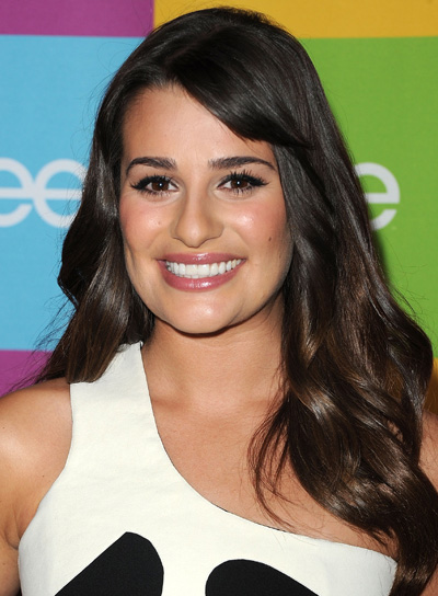 Lea Michele Long, Wavy, Sexy Brunette Hairstyle