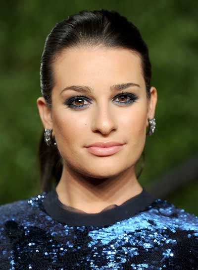 Lea Michele Straight, Sophisticated, Prom Ponytail