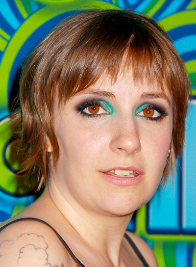 Lena Dunham's Short, Brunette, Funky, Layered Hairstyle