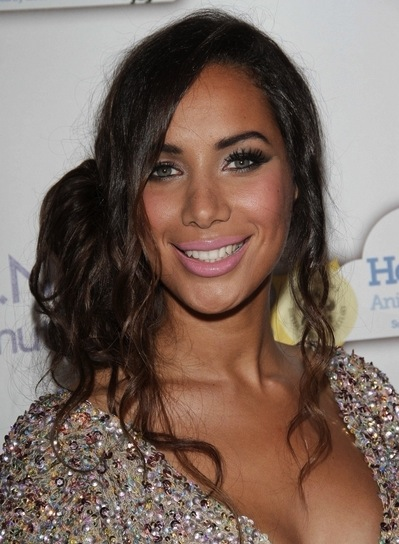 Leona Lewis Sexy, Sophisticated, Edgy, Funky, Brunette, Party Updo