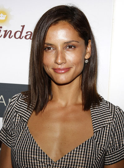 Leonor Varela Short, Straight, Brunette Bob