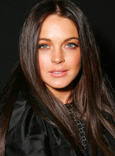 Lindsay Lohan Long, Straight, Black Hairstyle