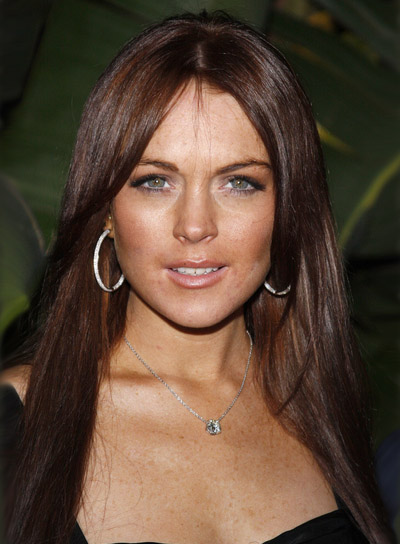 Lindsay Lohan Long, Straight, Brunette Hairstyle