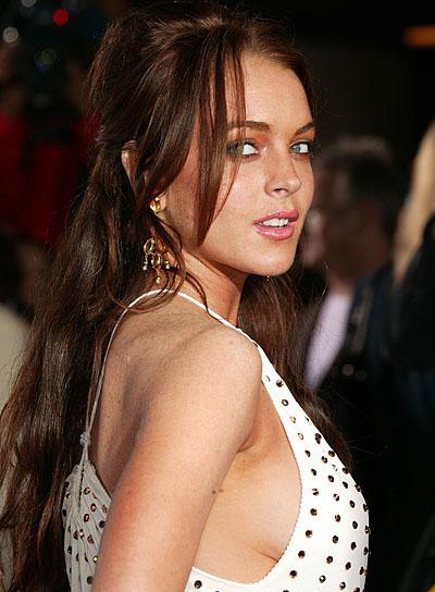 Lindsay Lohan Long, Wavy Half Updo