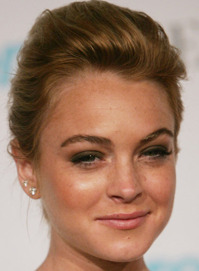 Lindsay Lohan Red Updo for Prom