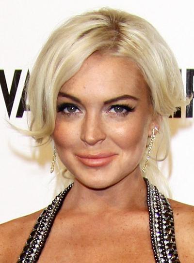 Lindsay Lohan Blonde, Sophisticated Updo