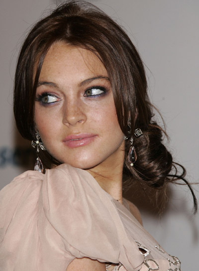 Lindsay Lohan Romantic Updo for a Wedding