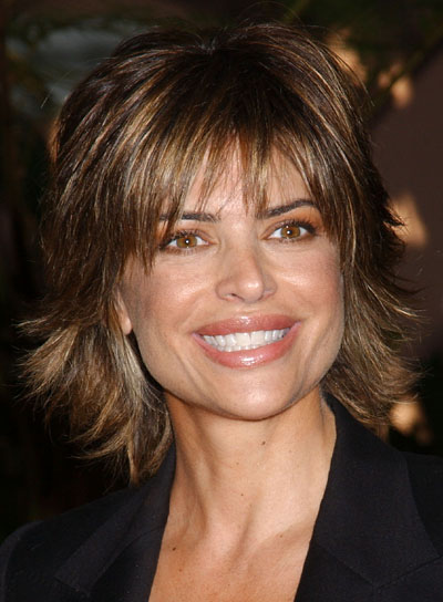 Lisa Rinna Shag Hairstyle with Bangs