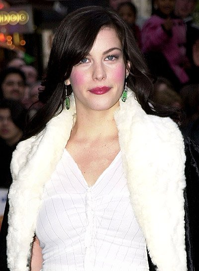 Liv Tyler Long, Wavy Hairstyle with Bangs