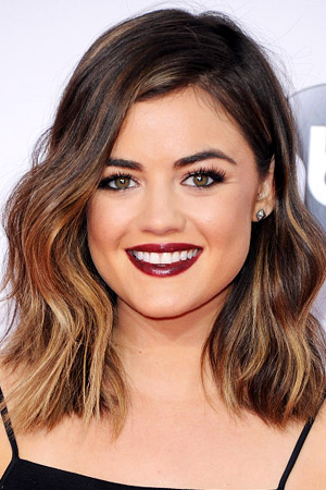 Lucy Hale with a Wavy, Short, Sexy, Brunette Hairstyle Pictures