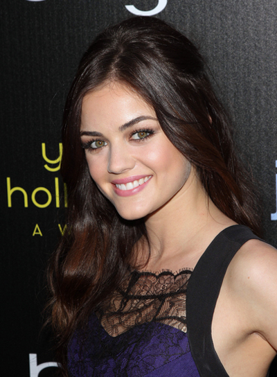 Lucy Hale Sophisticated, Brunette Hairstyle