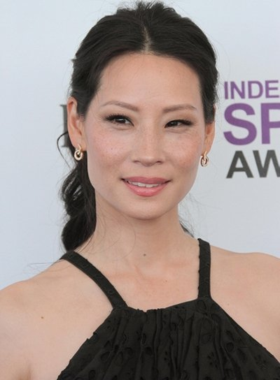 Lucy Liu Sexy, Curly, Black Ponytail