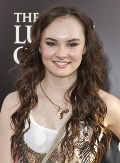 Madeline Carrol's Long, Curly, Tousled, Brunette Hairstyle