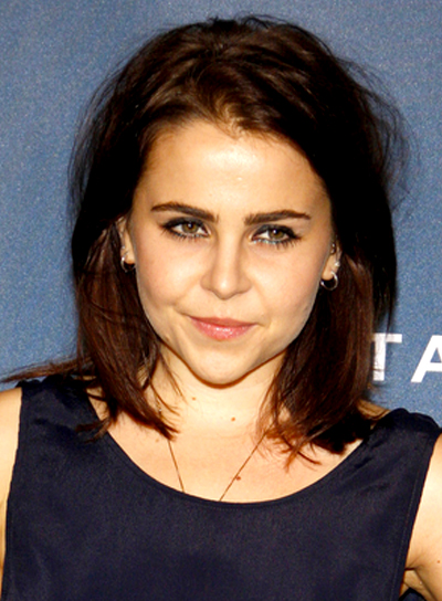 Mae Whitman's Medium, Brunette, Edgy, Tousled Hairstyle