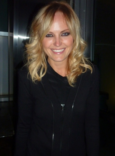 Malin Akerman Medium, Curly, Blonde Hairstyle