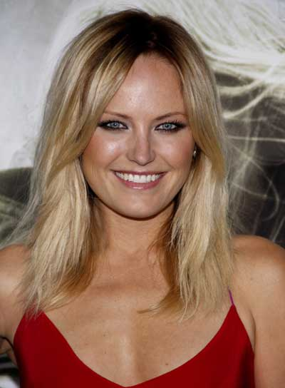 Malin Akerman Medium, Tousled, Blonde, Sexy Hairstyle