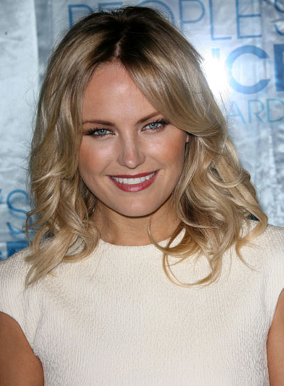 Malin Akerman Medium, Wavy, Sexy, Blonde Hairstyle