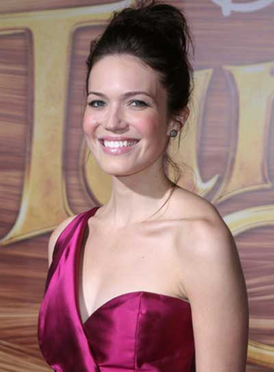 Mandy Moore Thick, Sophisticated, Brunette Updo
