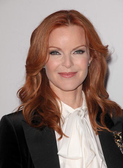 Marcia Cross Medium, Wavy, Red Hairstyle