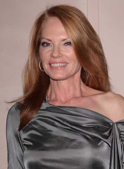 Marg Helgenberger Long, Straight, Brunette, Sophisticated Hairstyle