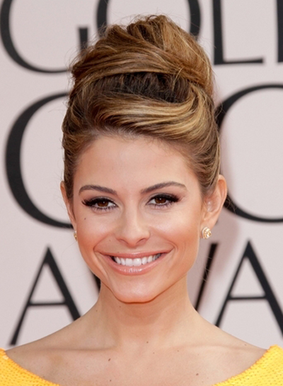 Maria Menounos Edgy, Funky, Party Updo with Highlights