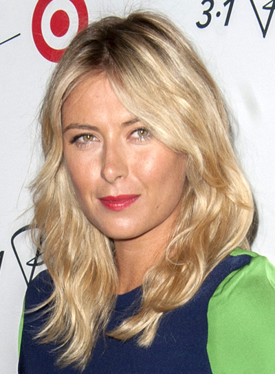 Maria Sharapova's Long, Wavy, Blonde, Sexy Hairstyle
