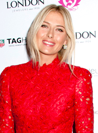 Maria Sharapova's Short, Blonde, Edgy, Straight Hairstyle