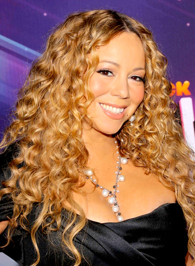 Mariah Carey's Long, Curly, Blonde, Romantic Hairstyle