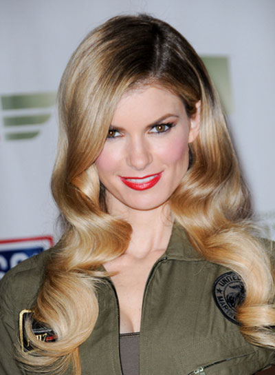 Marisa Miller Long, Romantic, Wavy, Blonde Hairstyle