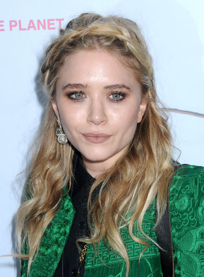Mary Kate Olsen Medium, Wavy Hairstyle with Braids and Twists