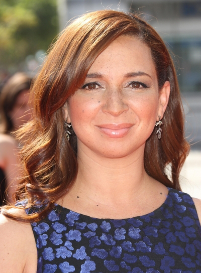 Maya Rudolph Medium, Curly, Brunette Hairstyle
