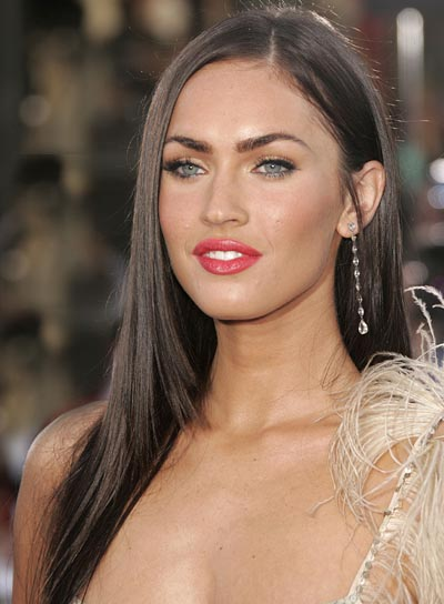 Megan Fox Long, Straight Hairstyle