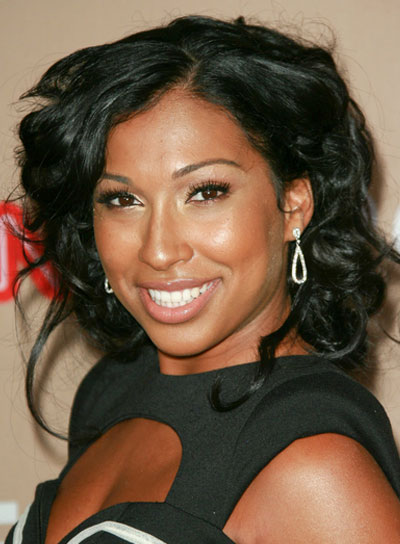Melanie Fiona Medium, Curly, Sophisticated, Black Hairstyle