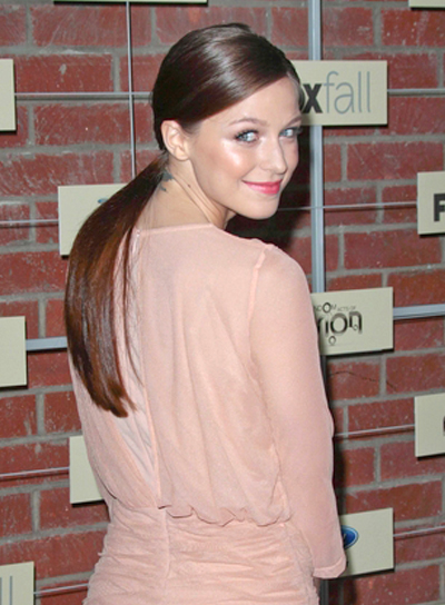 Melissa Benoist's Chic, Straight, Brunette, Ponytail Hairstyle